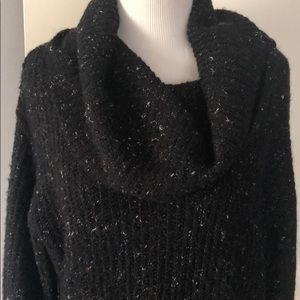 M.S.S.P. Turtleneck sweater black w speckles